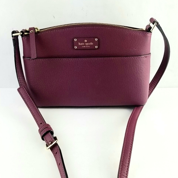 kate spade Handbags - Kate Spade New York Burgundy Leather Crossbody Bag